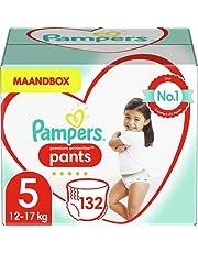 Pampers Maat 5 Premium Protection Luierbroekjes, 132 Stuks (12-17 kg), MAANDBOX, Pampers N°1 Luierbroekjes voor comfort en bescherming