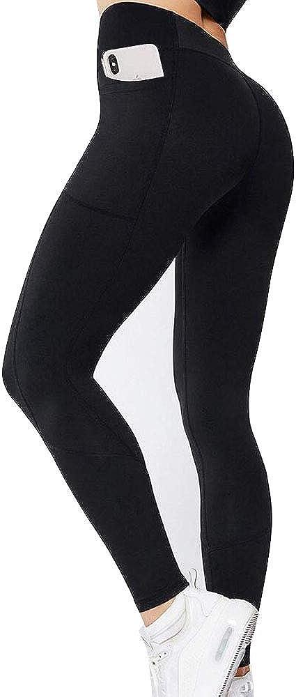 GIEADUN Pantalón Deportivo de Mujer Cintura Alta Leggings Mallas para Running Training Fitness Estiramiento Yoga y Pilates