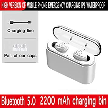 Lefang Mini Auriculares inalámbricos Bluetooth 5.0 con Cinta ...
