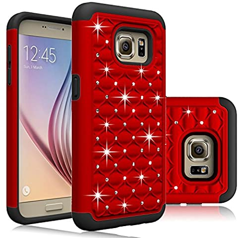 Samsung Galaxy S7 Case, Laxier(TM) Premium Lightweight Slim Fit Cover with Rhinestone Hard Shell Silicone Protective Case for Galaxy S 7 - Lip Cell Phone Case