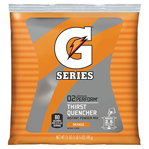 Gatorade Orange 2.5 Gallon Instant Powder Mix - 21 oz. Instant Gatorade Mix by Gatorade
