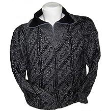 Alpakaandmore Men Turtleneck Pullover Alpaca Wool Sweater Grey