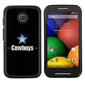 Qstar Arte & diseño plástico duro Fundas Cover Cubre Hard Case Cover para Motorola Moto E (Dallas Cowboy)