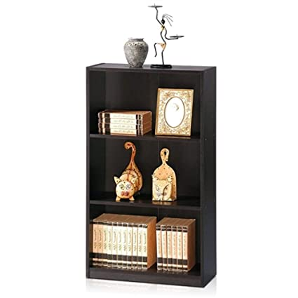 amazon com myeasyshopping modern 3 shelf bookcase in espresso wood rh amazon com Espresso Wall Shelves Floating Shelves Espresso