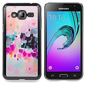 For Samsung Galaxy J3(2016) J320F J320P J320M J320Y Case , Colorido Moderno púrpura Arte - Diseño Patrón Teléfono Caso Cubierta Case Bumper Duro Protección Case Cover Funda