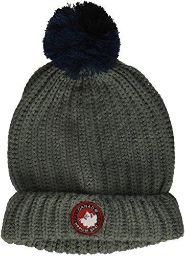 Canada Weather Gear Men's Split Pom Cuff Beanie, Grey, One Size (Hat Men Canada compare prices)
