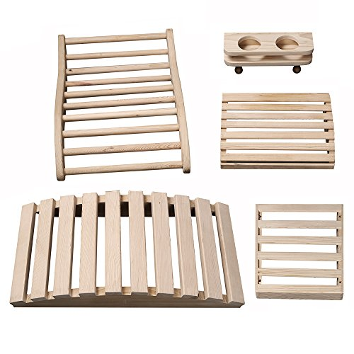 Radiant Saunas SA5024 Deluxe Sauna Accessory Kit, 23.625'' x 11.75'' x 4.33'', Natural by Radiant Saunas