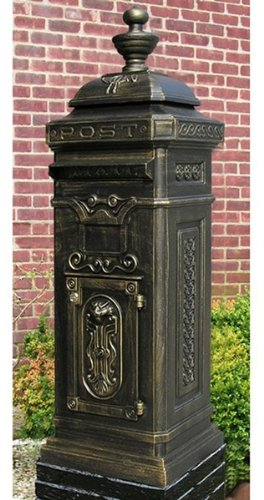 Ecco Victorian Tower Mailbox in Bronze E8BZ- Locking with Keys
