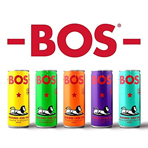 BOS Organic Iced Tea - Naturally Caffeine Free and Antioxidant Rich - Made with Rooibos