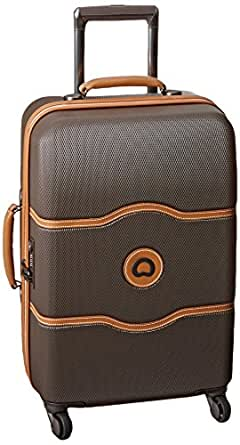 Delsey Luggage Chatelet 21 Inch Carry-On Spinner, Brown, One Size