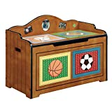 wooden boxes no lid - Fantasy Fields Lil' Sports Fan Thematic Kids Wooden Toy Chest with Safety Hinges | Imagination Inspiring Hand Crafted & Hand Painted Details Non-Toxic, Lead Free Water-based Paint
