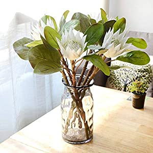 lightclub 1Pc King Protea Artificial Flower Fake Plant DIY Wedding Bouquet Party Decor 71