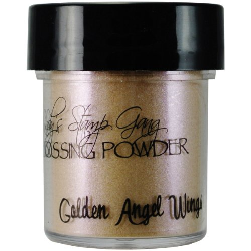 Lindy's Stamp Gang 2-Tone Embossing Powder, 0.5-Ounce Jar, Golden Angel Wings