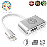 Thor Technology Digital HDMI Adapter Converter New Edition 2 in 1 Plug and Play Digital AV Connector Compatible for iPhone X iPhone 8 7 Plus iPad iPod