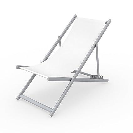 Amazon.com: Silla de playa de aluminio ajustable Vispronet ...