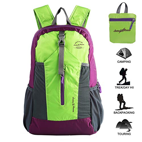 Lucien Hanna 20L Lightweight Packable Backpack Water Resistant Hiking Daypack Women Men Small Backpack