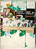 The Pioneer Woman Tablecloth Check Floral Kitchen Linens (60x84 Tablecloth, Country Garden Floral)