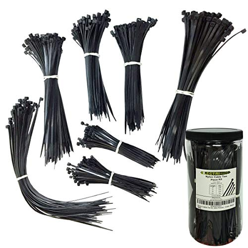 Nylon Cable Tie Kit - 650 Pieces - Assorted Lengths 4