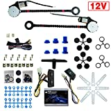 12V Electric Power Window Lift Regulator Conversion Kit with Switches Wiring and Hardware Universal Fit for 2-Door Pickup SUVs Trucks Vans Cars