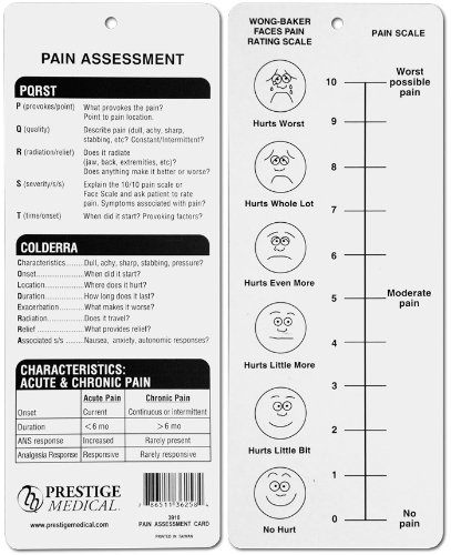 Prestige Medical Pain Assessment Card, 0.3 Ounce