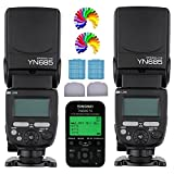 YONGNUO YN685 N Wireless Flash Speedlite 2PC + YN622N TX Flash TTL Trigger Remote Control Transceivers 2.4G For Nikon Digital Camera