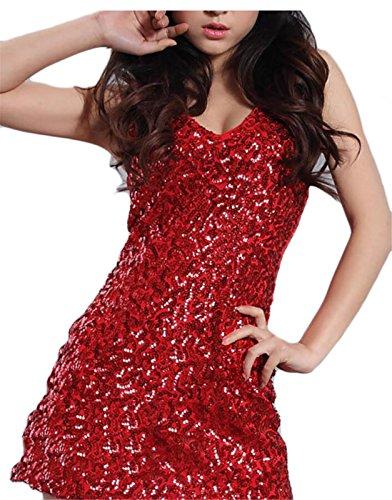 2 V Sequins Neck Nightclub Sexy Stretchy Women's Dresses Jaycargogo Club 4Ppqz