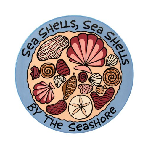 Our Name Is Mud by Lorrie Veasey Seashells Rd. Platter, 11-Inch