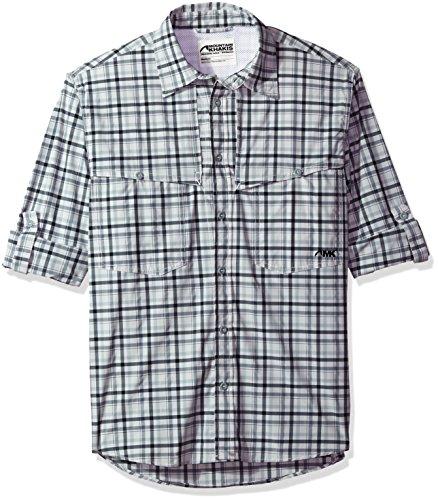 Mountain Khakis Men's Skiff Shirt, Gunmetal Plaid, Large