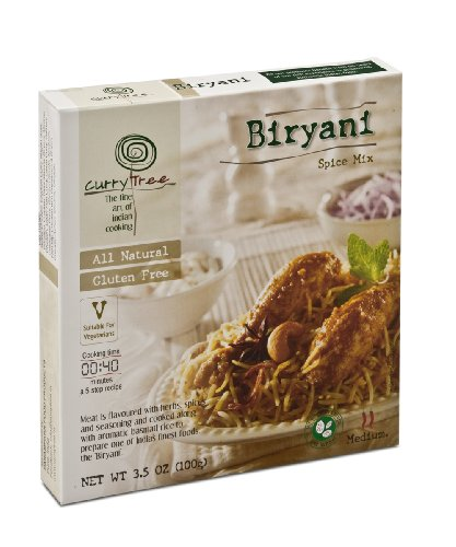 Curry Tree All Natural Gluten Free Spice Mix, Biryani, 3.5-Ounce Boxes (Pack of 6)