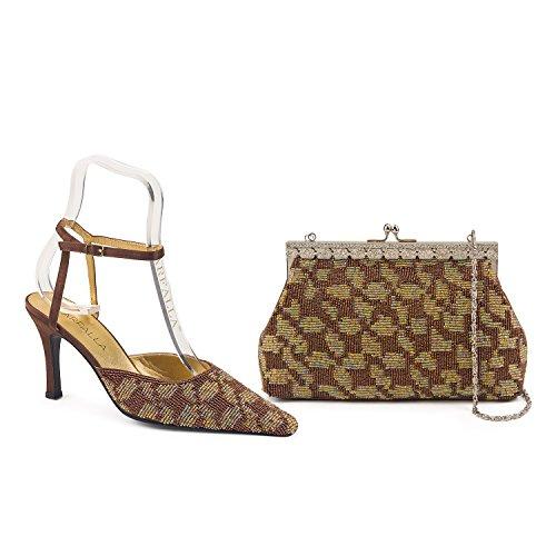 donna Brown Strap alla FARFALLA caviglia qw6ztpZx