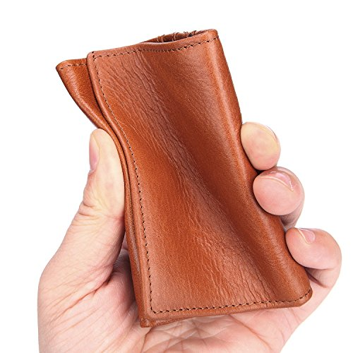 Poche Ciré Brass De À Paragraphe Brown Compact Sacoche Pour Hommes L'huile Main color En Size Portefeuille Sac Cuir Court S 8IqXa8