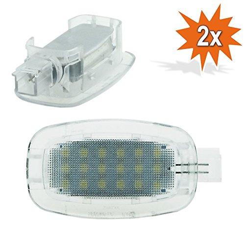2/x Do.LED TK16/LED SMD Iluminaci/ón Interior Soporte Espacio para maletero Espejo Guantera einstiegs//puerta Iluminaci/ón
