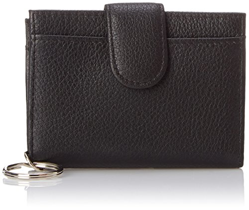 buxton-key-chain-with-leather-id-card-case-black