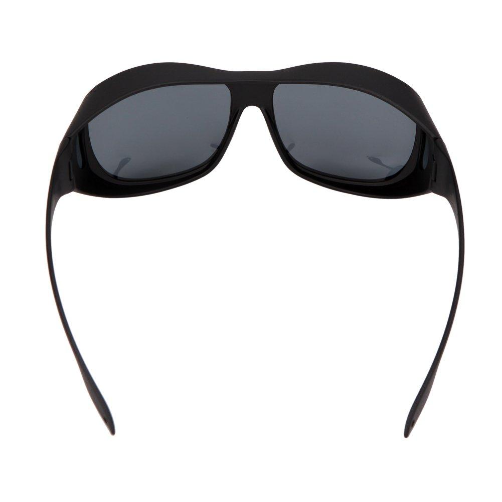 Solarfun Polarized Fit Over Glasses Sunglasses Wrap Around Solar Reduce Shield for Men and Women's Driving,Black by Solarfun (Image #5)