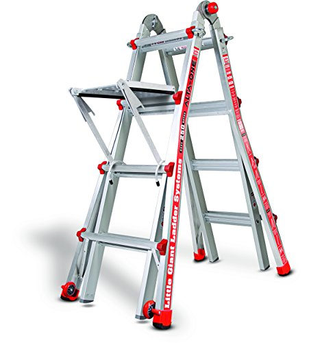 Little Giant Ladder 14013-304 Alta One 17' Ladder with Work Platform (250-lb Weight Rating, Type 1)