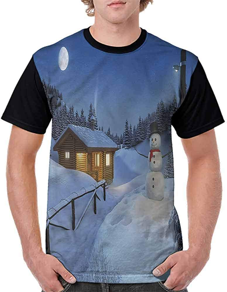 Vintage T-Shirt,Rustic Wood Cottage Fashion Personality Customization
