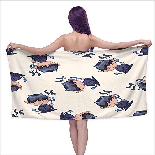 Ediyuneth Bath Towel bar Halloween Party Costume Cartoon Seamless Pattern background3,W28 xL55 for Kids Mickey Mouse