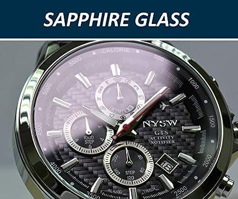 NYSW | La mayoría de Relojes Inteligentes híbridos de Lujo - Día mecánico - Cristal de Zafiro - Impresionante Segunda Mano y más (TC-NY-MH-08-W): Amazon.es: ...