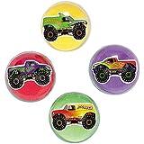 Monster Truck Bouncing Balls (1 Dozen) - Bulk by Fun Express