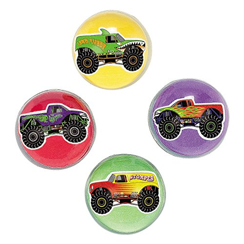 Monster Truck Bouncing Balls Dozen