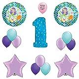 Mermaid Friends Happy 1st Birthday Balloon Decoration Kit by Mermaid Balloons