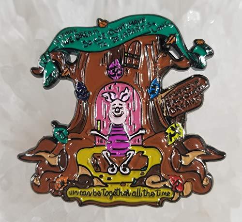 (Winnie The Pooh Piglet Dream Chakra Meditation 3D Enamel Hat Pin Limited Edition Numbered(i.e. 1/200) Festival Pin Grateful Dead Pin Dab Pin Disney Pin)