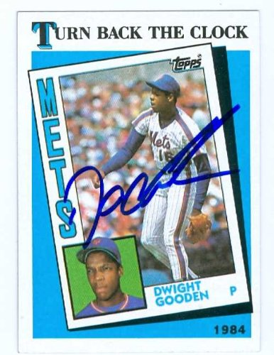 Dwight Gooden autographed baseball card (New York Mets) 1989 Topps #661 Turn Back the Clock