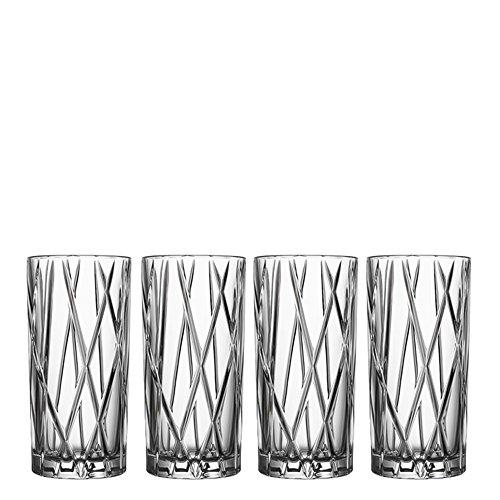 Orrefors City 11.6 Ounce Highball Glass, Set of 4 ()