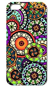 5s Case, iPhone 5&5s Case,Tomhousmick-Custom design hard Fashion Style Colorful Painted Flowers Pattern case cover for iphone 5 5S