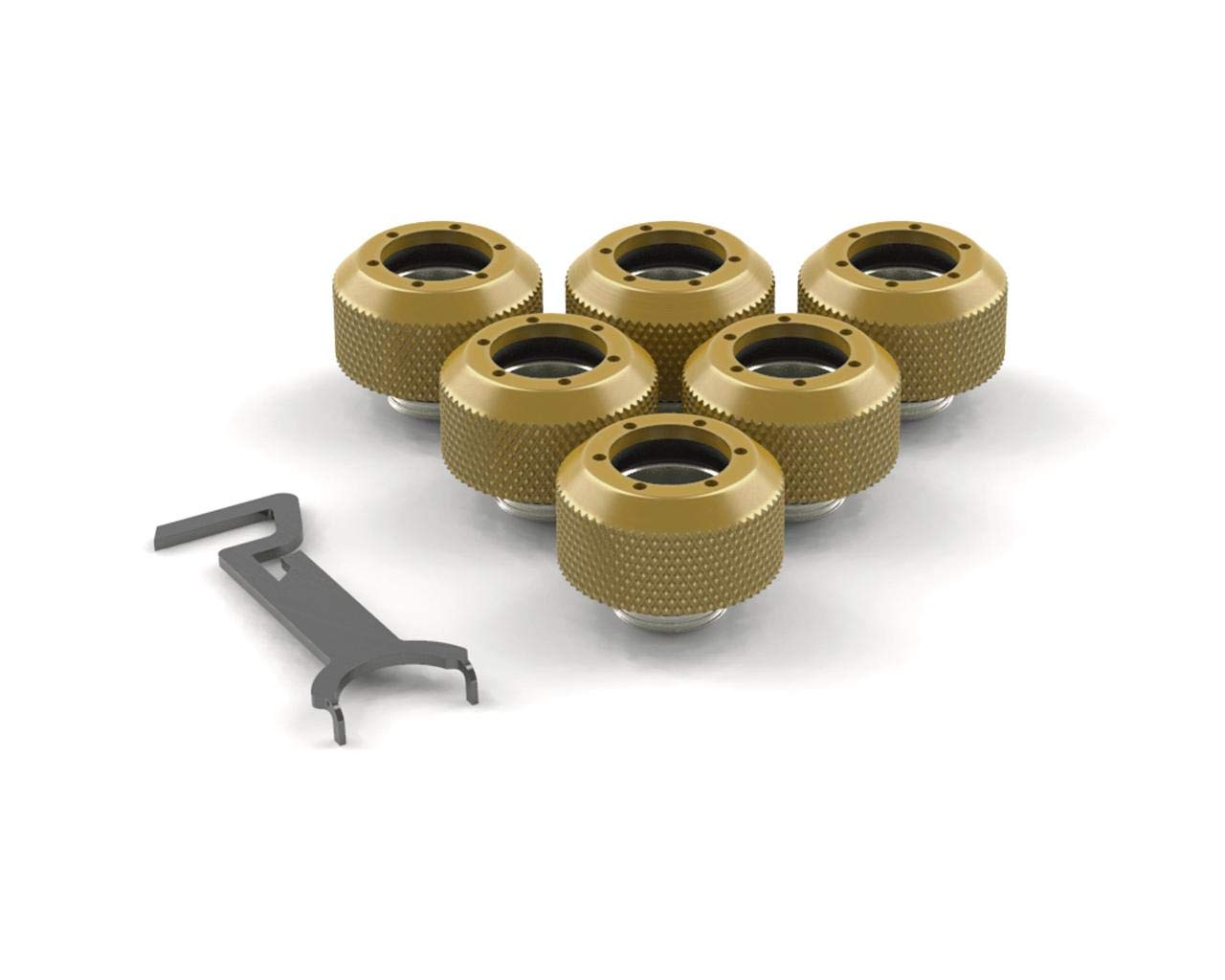 PrimoChill 1/2in. Rigid RevolverSX Series Fitting - Candy Gold - 6 Pack