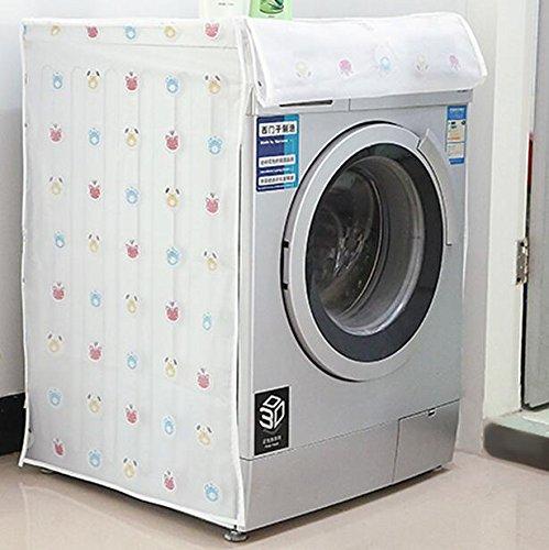color blanco Wangc 60 x 56 x 83 cm Funda impermeable para lavadora de tambor