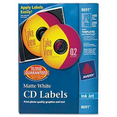Avery LABEL, CD/DVD, IJ by Avery