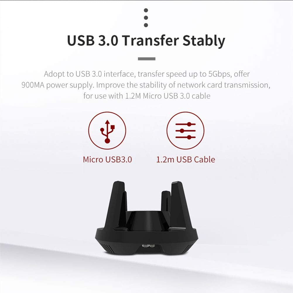 NSST WiFi Adapter AC1900Mbps High Gain Dual Band USB 3.0 Wireless Adapter 5GHz//2.4GHz WiFi USB for PC//Desktop//Laptop
