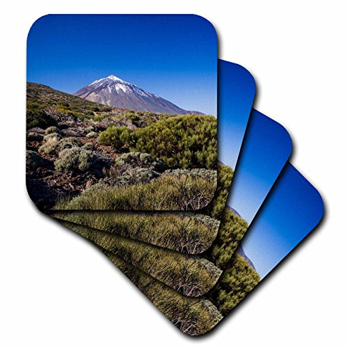 3dRose cst_257877_1 Spain, Canary Islands, Tenerife, Valle De La Orotava, Pico Del Teide, Set of 4 Soft Coasters by 3dRose